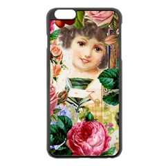 Little Girl Victorian Collage Apple Iphone 6 Plus/6s Plus Black Enamel Case