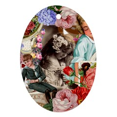 Victorian Collage Ornament (oval)