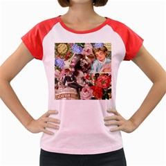 Victorian Collage Women s Cap Sleeve T Shirt