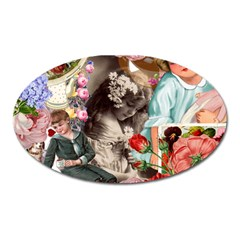 Victorian Collage Oval Magnet