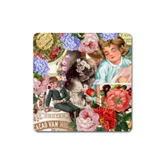Victorian Collage Square Magnet