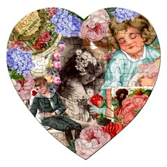 Victorian Collage Jigsaw Puzzle (heart)
