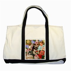 Victorian Collage Two Tone Tote Bag