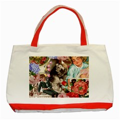 Victorian Collage Classic Tote Bag (red)