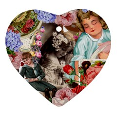 Victorian Collage Heart Ornament (two Sides)