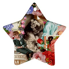 Victorian Collage Star Ornament (two Sides)
