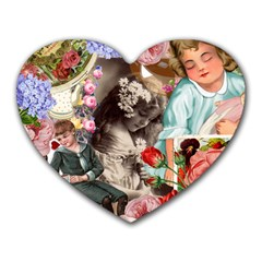 Victorian Collage Heart Mousepads