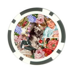 Victorian Collage Poker Chip Card Guard