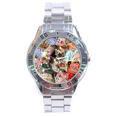 Victorian Collage Stainless Steel Analogue Watch