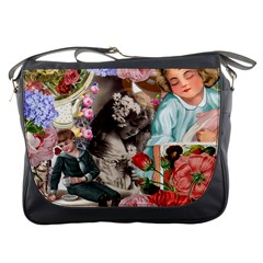 Victorian Collage Messenger Bags