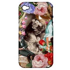 Victorian Collage Apple Iphone 4/4s Hardshell Case (pc+silicone)