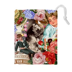 Victorian Collage Drawstring Pouches (extra Large)