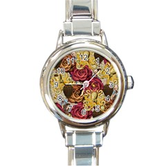 Octopus Floral Round Italian Charm Watch