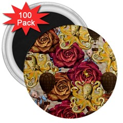 Octopus Floral 3  Magnets (100 Pack)
