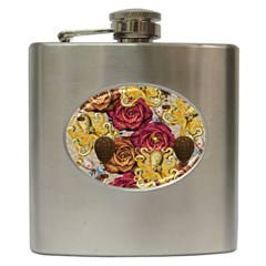 Octopus Floral Hip Flask (6 Oz)