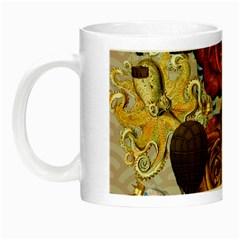 Octopus Floral Night Luminous Mugs