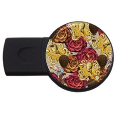Octopus Floral Usb Flash Drive Round (4 Gb)