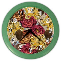 Octopus Floral Color Wall Clocks