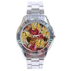 Octopus Floral Stainless Steel Analogue Watch