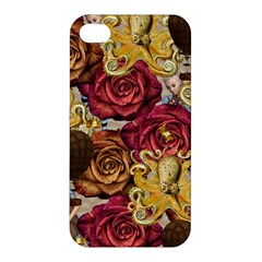 Octopus Floral Apple Iphone 4/4s Premium Hardshell Case