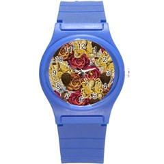 Octopus Floral Round Plastic Sport Watch (s)