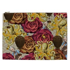 Octopus Floral Cosmetic Bag (xxl)