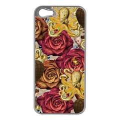 Octopus Floral Apple Iphone 5 Case (silver)
