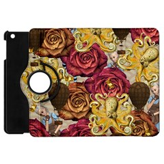 Octopus Floral Apple Ipad Mini Flip 360 Case