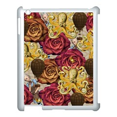 Octopus Floral Apple Ipad 3/4 Case (white)
