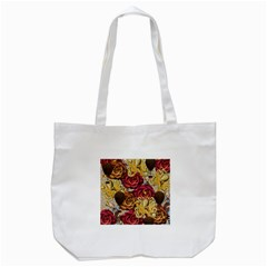 Octopus Floral Tote Bag (white)
