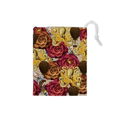 Octopus Floral Drawstring Pouches (small)