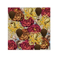 Octopus Floral Small Satin Scarf (square)