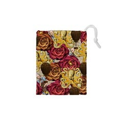 Octopus Floral Drawstring Pouches (xs)