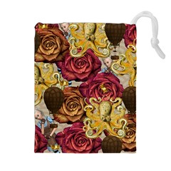 Octopus Floral Drawstring Pouches (extra Large)