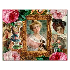 Victorian Collage Of Woman Rectangular Jigsaw Puzzl