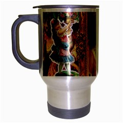 Victorian Collage Of Woman Travel Mug (silver Gray)
