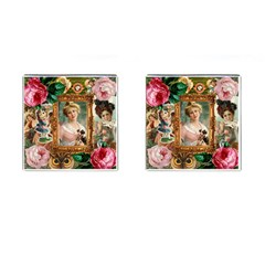 Victorian Collage Of Woman Cufflinks (square)