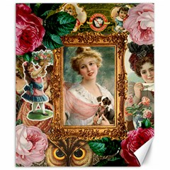 Victorian Collage Of Woman Canvas 20  X 24