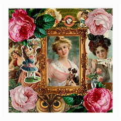 Victorian Collage Of Woman Medium Glasses Cloth