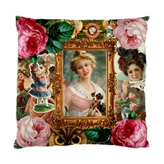Victorian Collage Of Woman Standard Cushion Case (one Side)