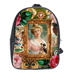 Victorian Collage Of Woman School Bag (large)