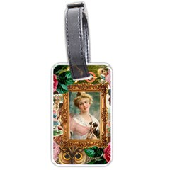 Victorian Collage Of Woman Luggage Tags (one Side)