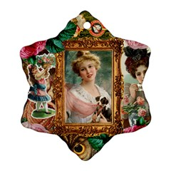 Victorian Collage Of Woman Ornament (snowflake)