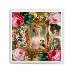 Victorian Collage Of Woman Memory Card Reader (square)