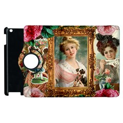 Victorian Collage Of Woman Apple Ipad 2 Flip 360 Case