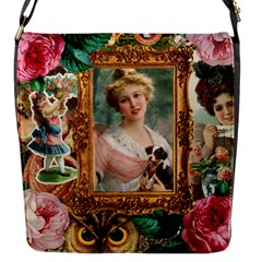 Victorian Collage Of Woman Flap Messenger Bag (s)
