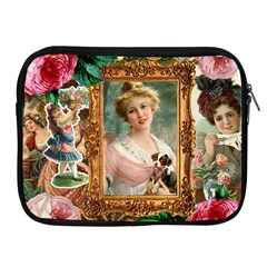 Victorian Collage Of Woman Apple Ipad 2/3/4 Zipper Cases