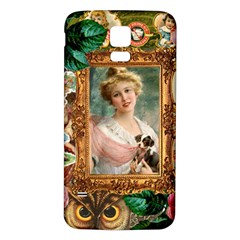 Victorian Collage Of Woman Samsung Galaxy S5 Back Case (white)