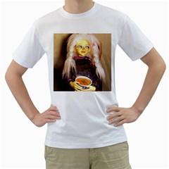 Eating Lunch Men s T Shirt (white)
