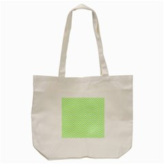 Green Chevron Tote Bag (cream)